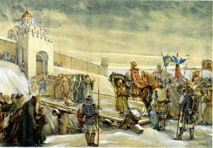 Мыслина_Въезд Александра Невского во Владимир на княжение в 1252 г.